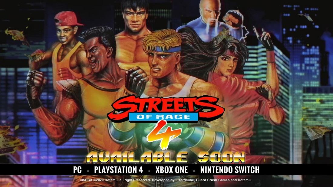 Streets of Rage 4 contará con un modo Retro que traerá viejos recuerdos