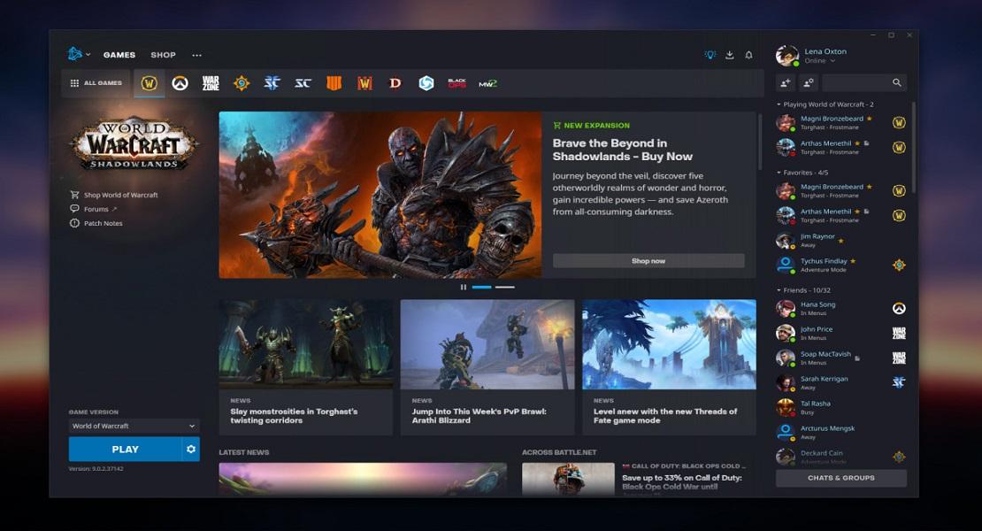 Blizzard renueva el diseño de su aplicación de Battle.net